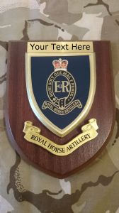 Royal Horse Artillery RHA Personalised Military Wall Plaque